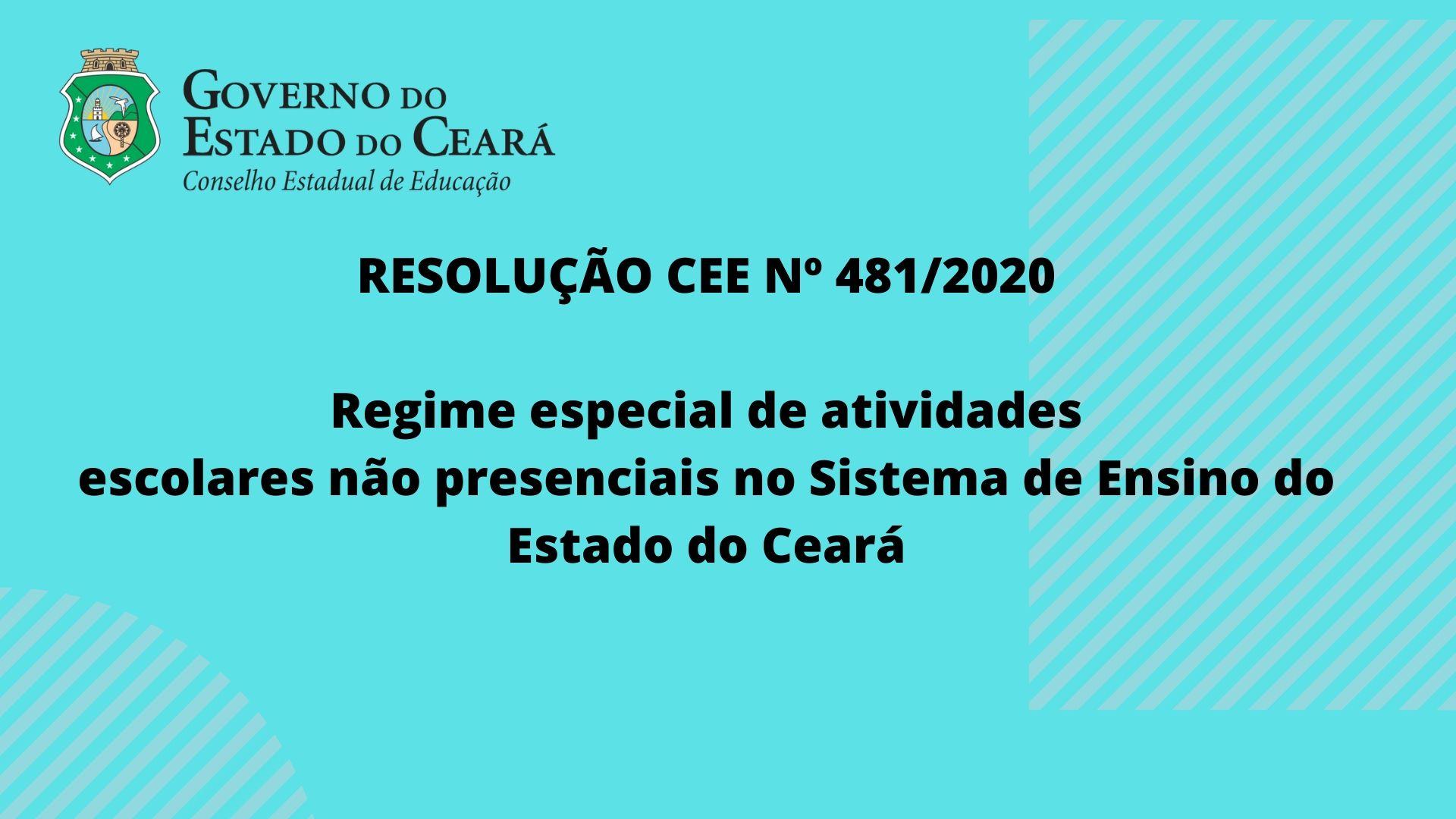 CEE aprova resolução sobre regime especial de atividades escolares não presenciais