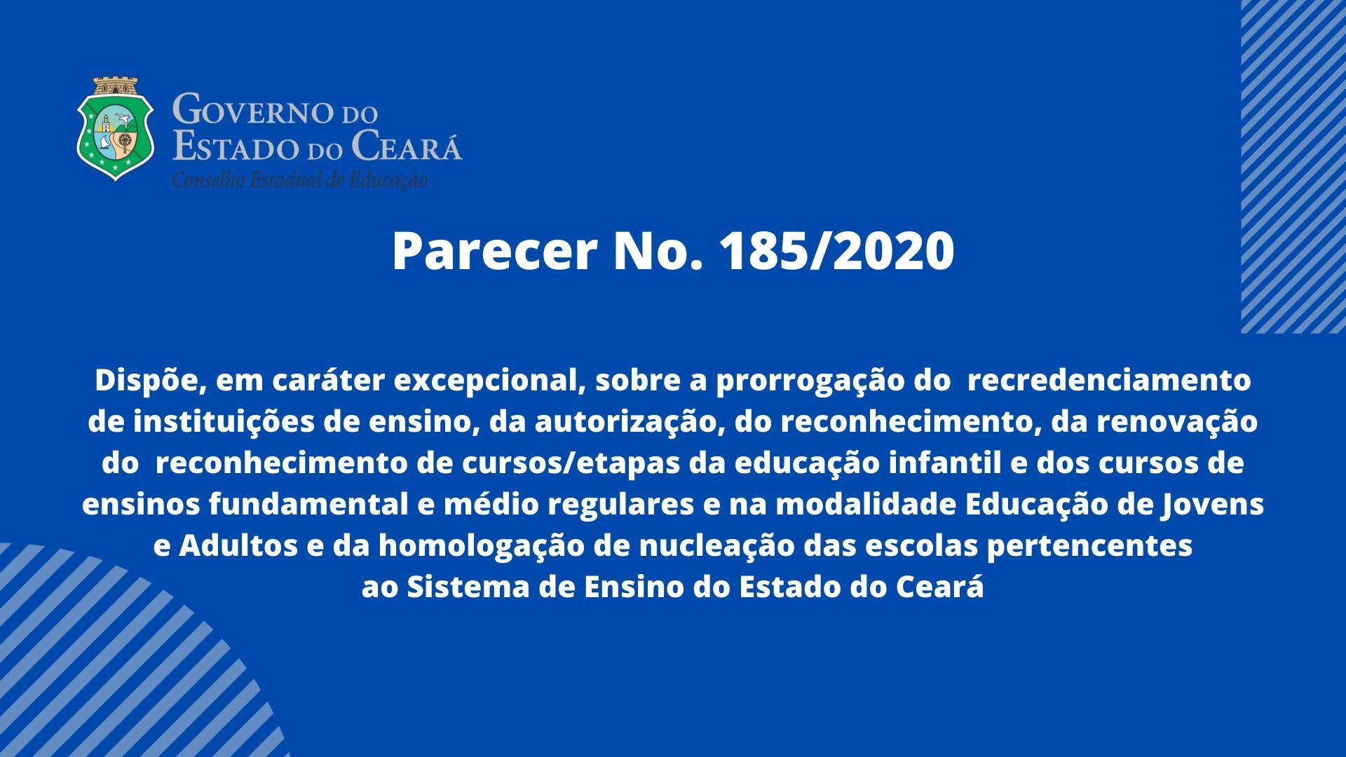 CEE aprova prorrogação do recredenciamento e outros processos de instituições de ensino por conta da pandemia