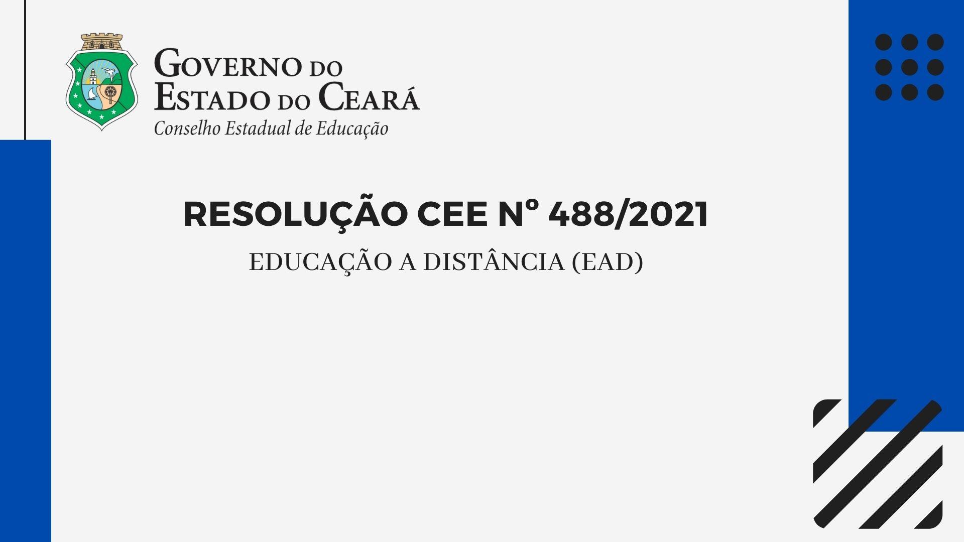 CEE normatiza EaD para o Sistema de Ensino do Estado do Ceará